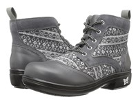 Alegria Kylie Snuggy Grey Women's Lace Up Boots Gray