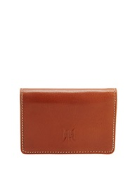 Tusk Leather Business Card Case Tan
