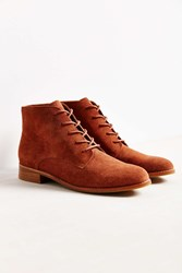 Urban Outfitters Marnie Suede Lace Up Boot Brown