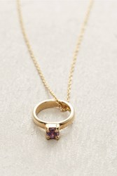Anthropologie Birthstone Ring Choker Dark Purple