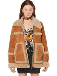 Dsquared Shearling Jacket Beige