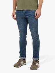 Ted Baker Treezie Tapered Fit Jeans Mid Blue
