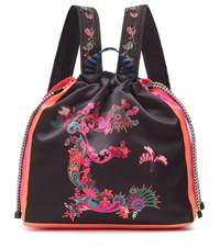 Etro Printed Backpack Black