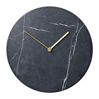 Menu Marble Wall Clock Black