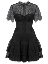 Jonathan Simkhai Lace Bustier Dress Black