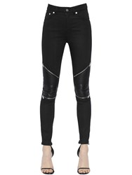 Saint Laurent Biker Stretch Cotton Denim Jeans