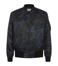 Sandro Air Force Bomber Jacket Male Blue
