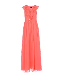 Atos Lombardini Long Dresses Coral
