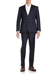 English Laundry Regular Fit Peaked Lapel Wool Suit Navy