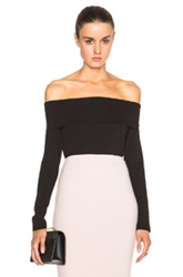 Nicholas Ponti Off Shoulder Fold Top In Black