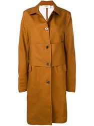 Ports 1961 Single Breasted Trench Coat Brown