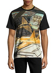 Opening Ceremony Jet Fighter Graphic Tee Black Multicolor