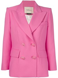 Mulberry Double Breasted Blazer Pink