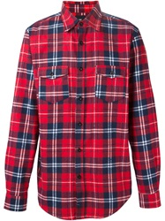 Les Artists Les Art Ists Tartan 'Pharrell 73' Shirt Red