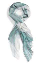 Nordstrom Women's Ombre Stripe Scarf Teal Combo