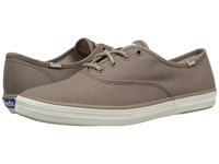 Keds Champion Seasonal Solid Dark Taupe Women's Lace Up Casual Shoes