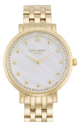 Kate Spade 'Monterey' Crystal Dial Bracelet Watch 38Mm Gold