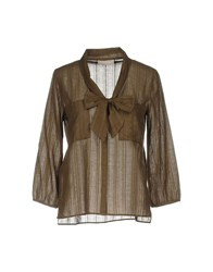 Stefanel Shirts Military Green