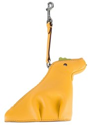Coach Dinosaur Keyring Yellow Orange