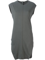 Rick Owens Drkshdw Front Slit T Shirt Dress Grey
