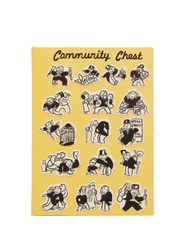 Olympia Le Tan Monopoly Community Chest Embroidered Clutch Yellow