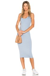 Enza Costa Rib Tank Dress Blue