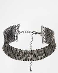 Asos Chainmail Choker Necklace Gunmetal