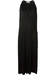 Vanessa Bruno Long Draped Dress Black