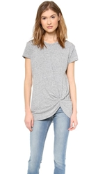 Stateside Twist Front Tee Heather Grey