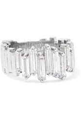Suzanne Kalan 18 Karat White Gold Diamond Ring 6