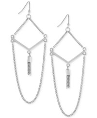 Bcbgeneration Decorative Chain Drop Earrings Silver