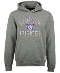 Retro Brand Men's Washington Huskies Tri Blend Fleece Hoodie Gray