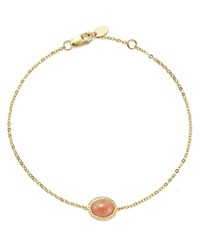 Bloomingdale's Coral Oval Bracelet In 14K Yellow Gold 100 Exclusive Pink Gold