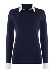 Gant Long Sleeve Rugby Jersey Navy