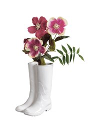 Seletti Rainboots Porcelain Vase Umbrella Stand White