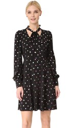 Marc Jacobs Long Sleeve Dress With Tie Black Multi