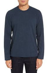 James Perse Men's Long Raglan Sleeve T Shirt Indigo