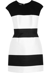 Narciso Rodriguez Striped Wool Blend And Satin Dress