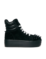 Yru Lola Flatform Trainer With Spikes Black
