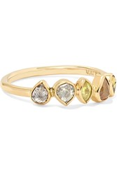 Melissa Joy Manning 18 Karat Gold Diamond Ring 6 1 4