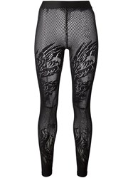 Filles A Papa 'Dragon' Fishnet Tights Black