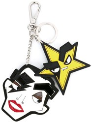 Dsquared2 'Punk' Star Dual Keyring Multicolour