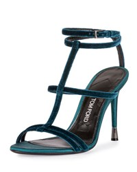 Tom Ford Velvet Cage 105Mm Sandal Pacific Blue Pacific Blue Paci