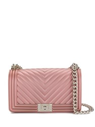Marc Ellis Foldover Top Chain Crossbody Bag Pink