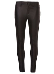 Dorothy Perkins Tall Black Coated 'Frankie' Jeggings
