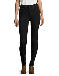 Noisy May Lexi Paneled Skinny Jeans Black