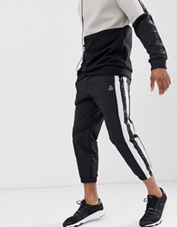 Reebok Meet You There Tapered Tape Joggers In Black
