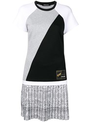 Roberto Cavalli Short Panelled Dress White