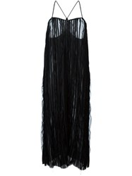 Romeo Gigli Vintage Pleated Midi Dress Black