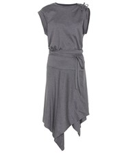 Isabel Marant Loko Wrap Dress In Cotton Grey